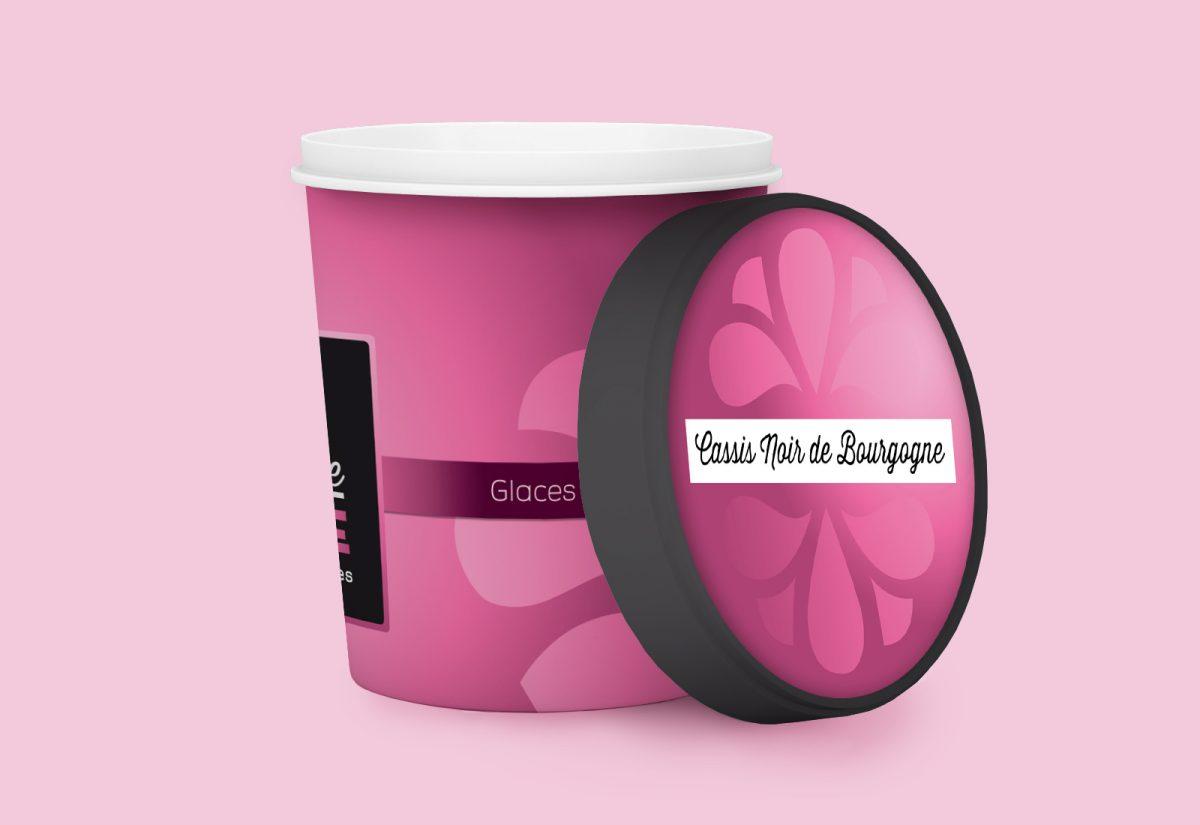 White Food Plastic Tub Bucket Container For Dessert, Yogurt, Ice