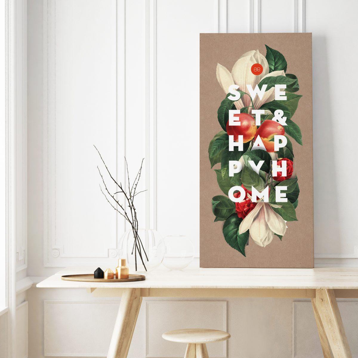 mock up poster frame in hipster room, scandinavian style interior